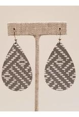 Darling Earrings Gray Basketweave