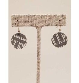 Dew Drop Earrings Gray Basketweave