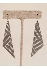 Dream Earrings Gray Basketweave