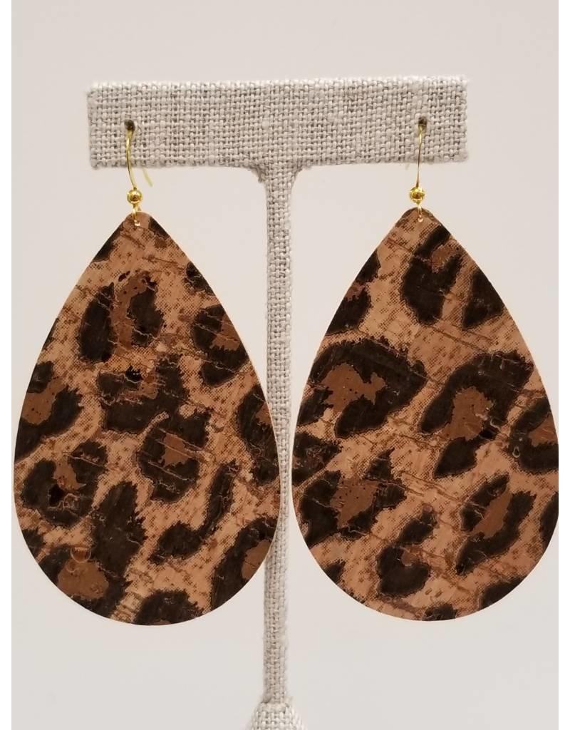 Daring Leopard Cork Earrings