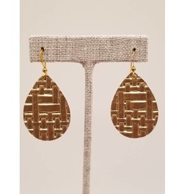 Dainty Gold Basketweave Earrings