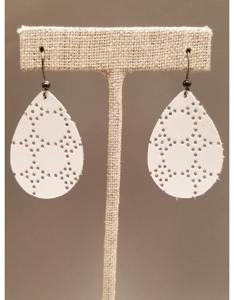 Dainty Earring White Honeycomb