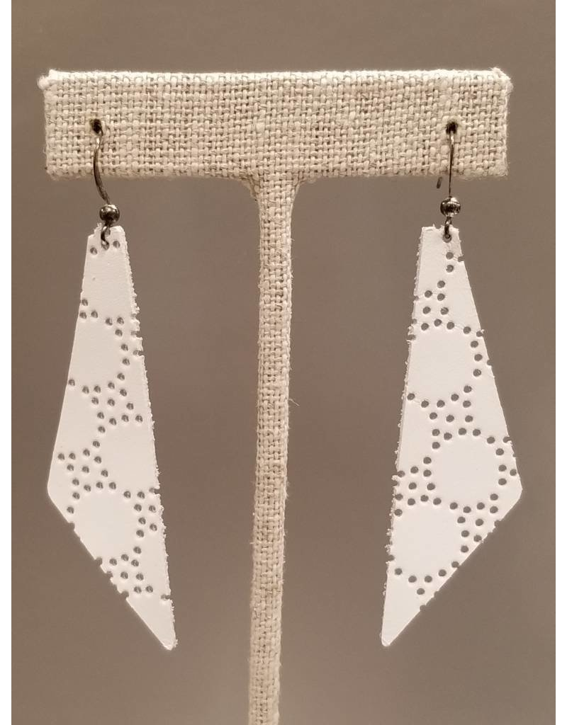 Dream Earring White Honeycomb
