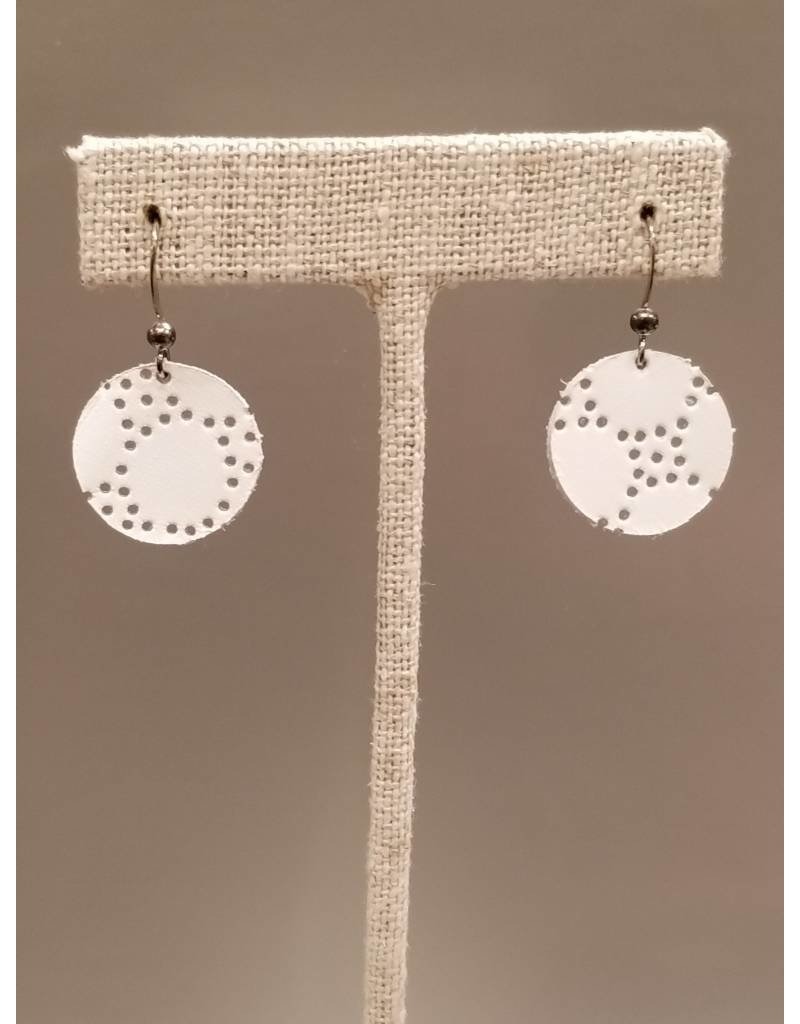 Dew Drop Earring White Honeycomb