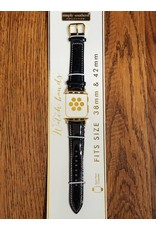 Black Glitter Watch Strap