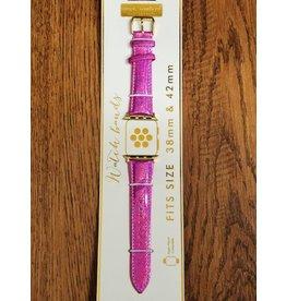 Pink Glitter Watch Strap