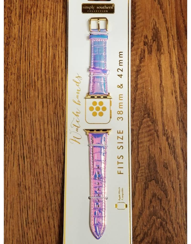 Pink Opal Glitter Watch Strap