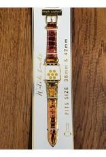 Orange Glitter Watch Strap