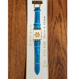 Blue Glitter Watch Strap
