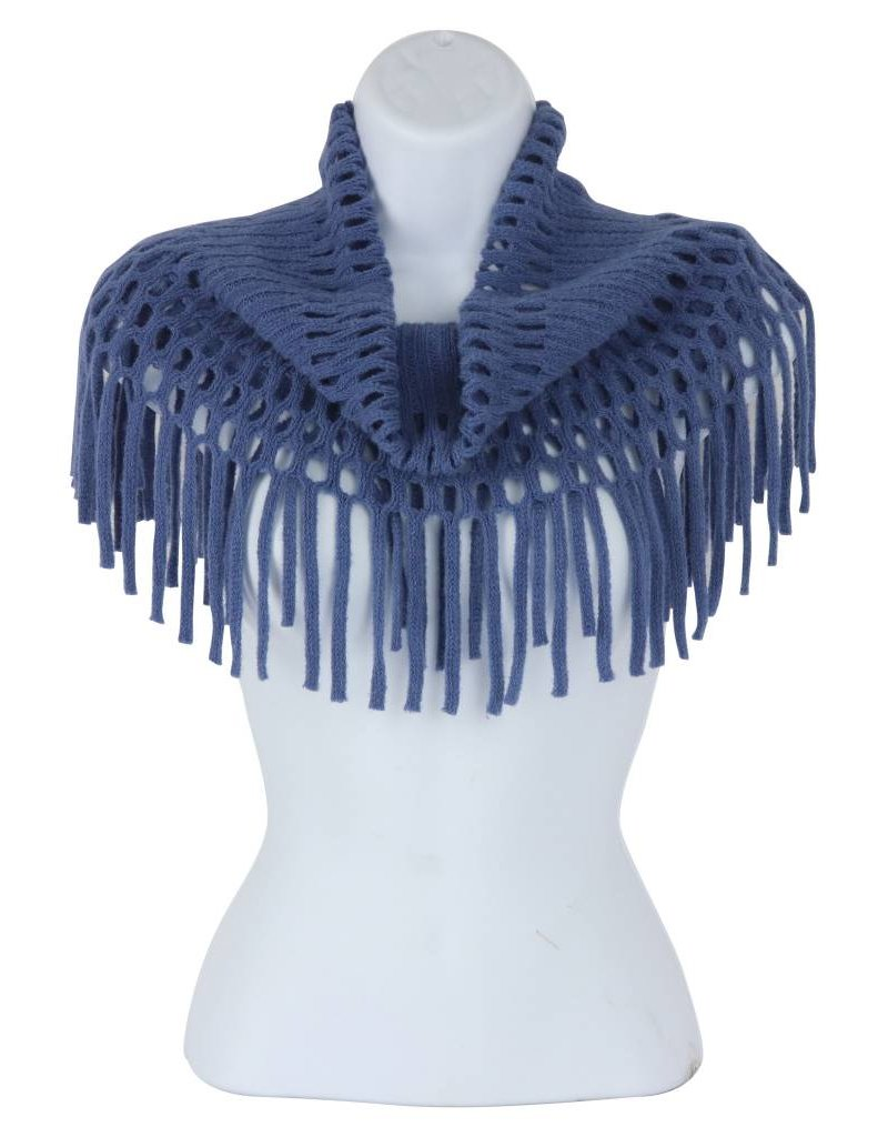Open Weave Inf Scarf Blue