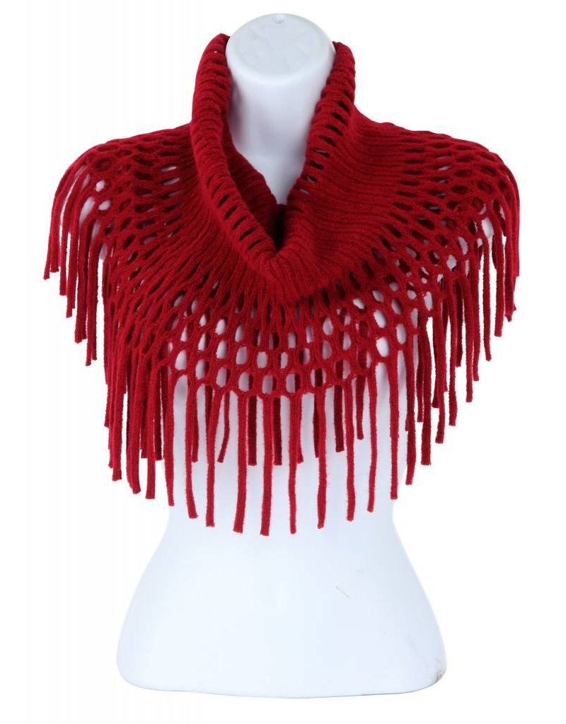 Open Weave Inf Scarf  Burgundy