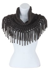 Open Weave Inf Scarf Charcoal