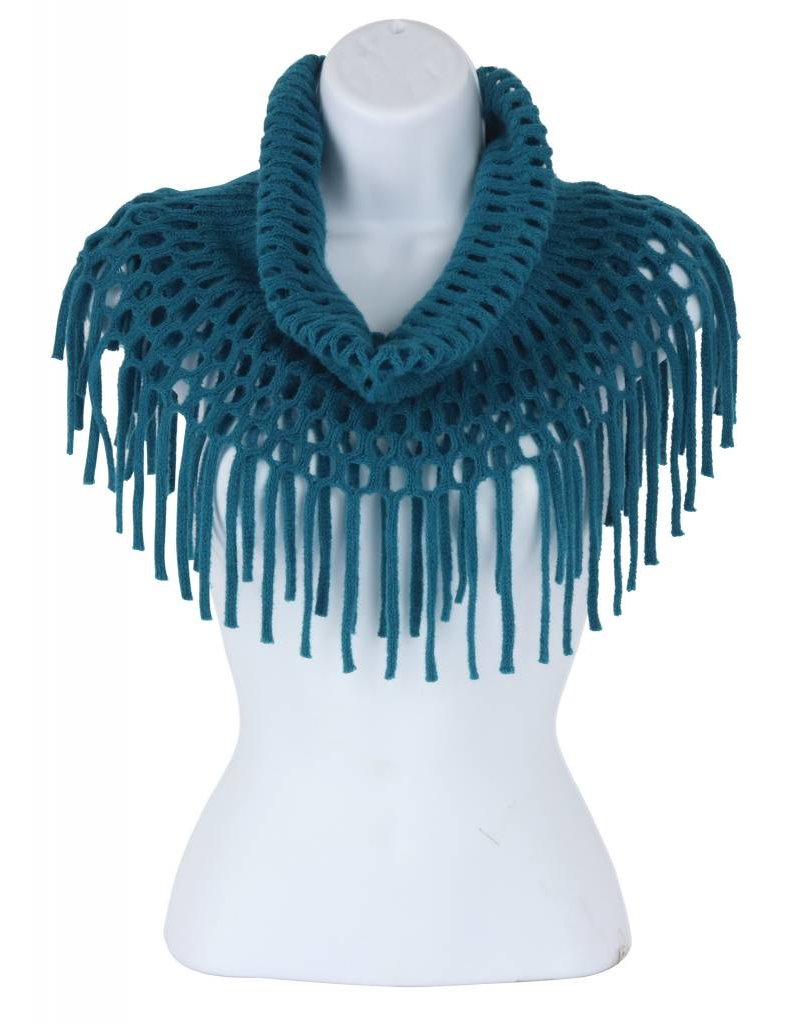 Open Weave Inf Scarf Teal