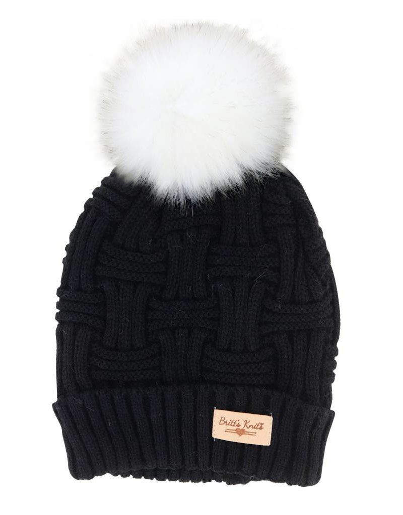 7b5d6b6c230 Hat W Natural Pom Black - Coventry Corners
