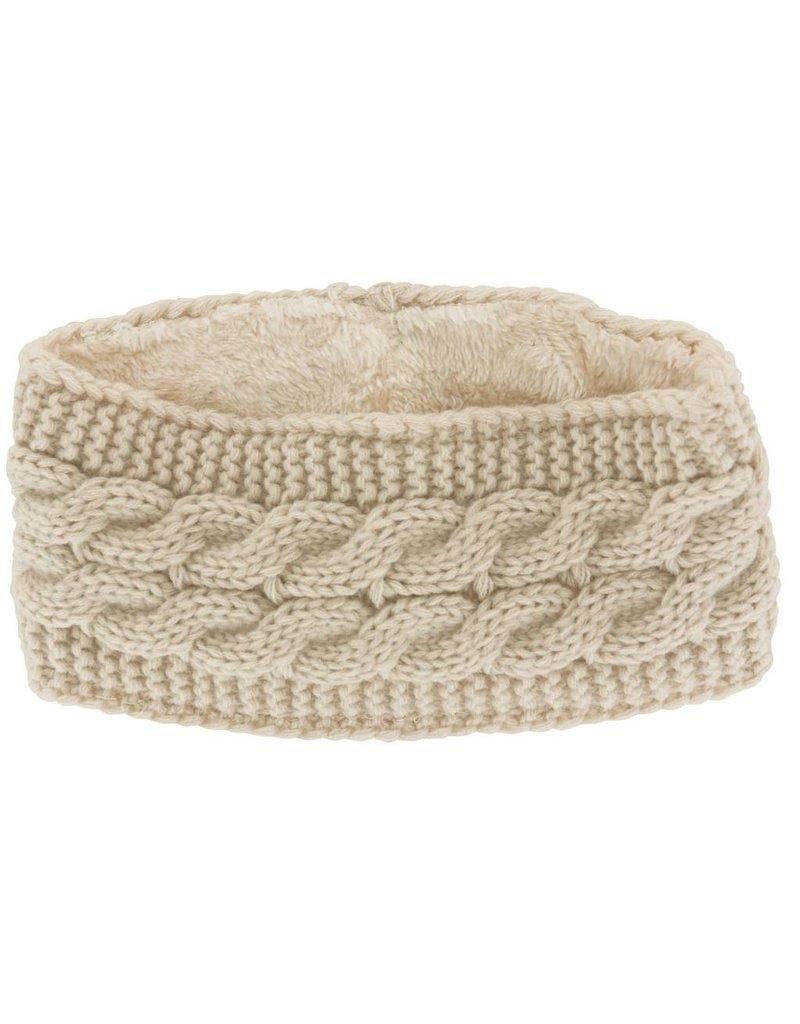Lined Knit Head Warmer Oat