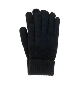 Stretch Knit Gloves Black
