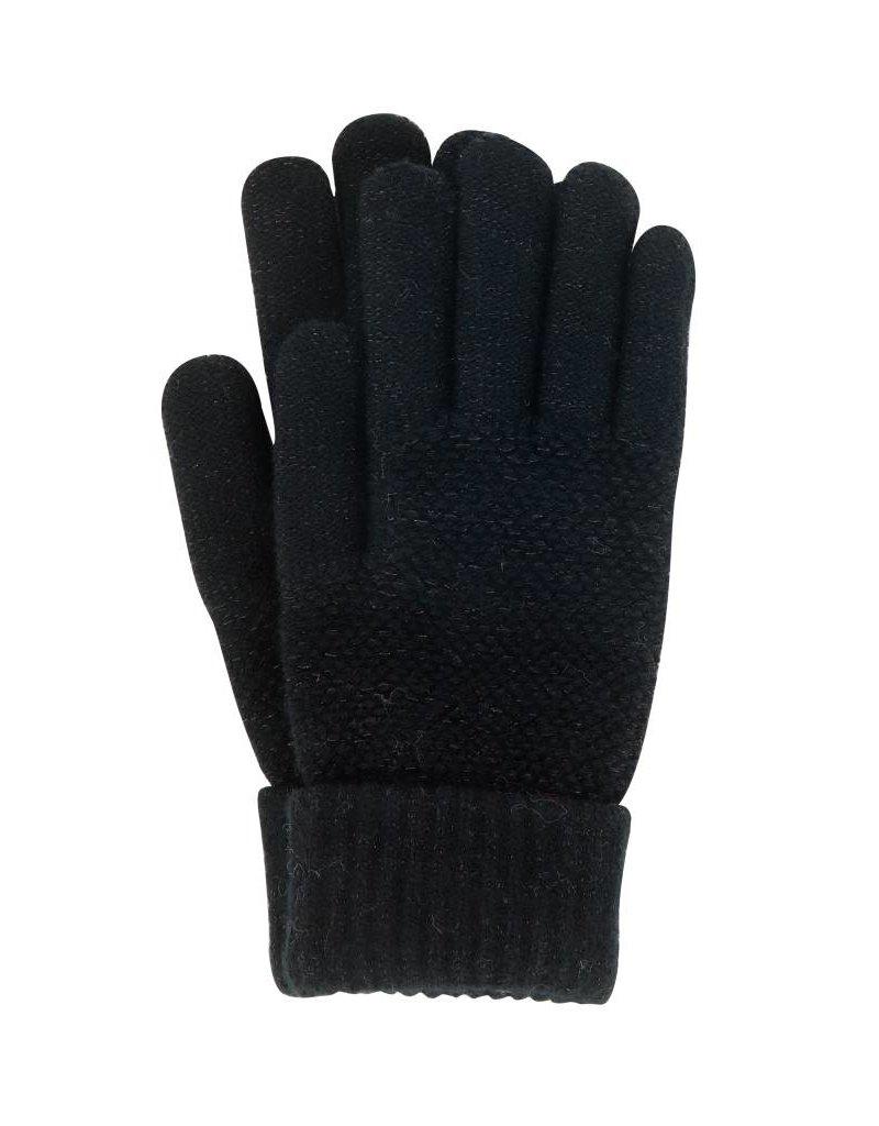 Stretch Knit Gloves Black