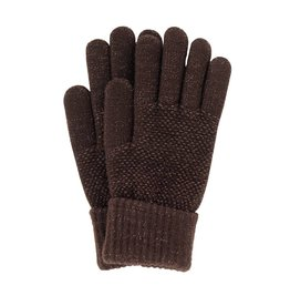 Stretch Knit Gloves Brown