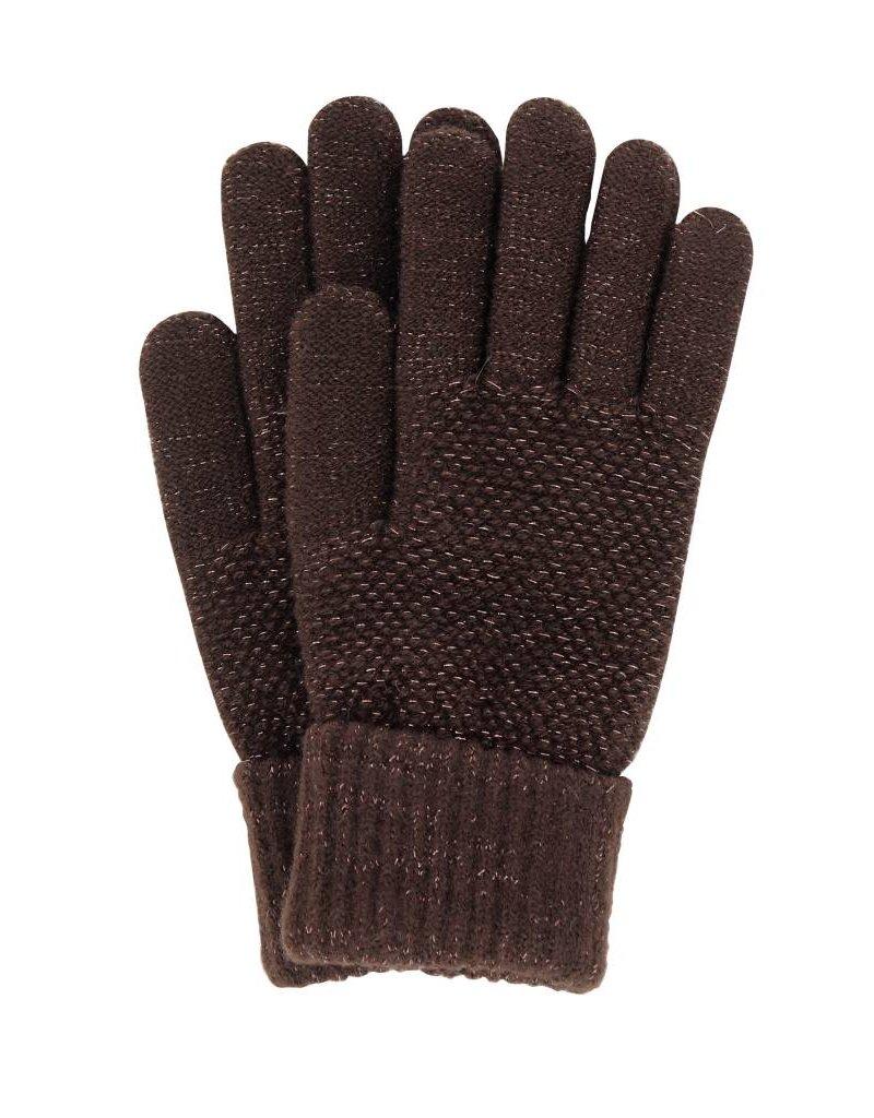 Stretch Knit Gloves Brown
