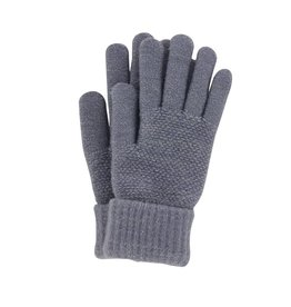 Stretch Knit Gloves Grey