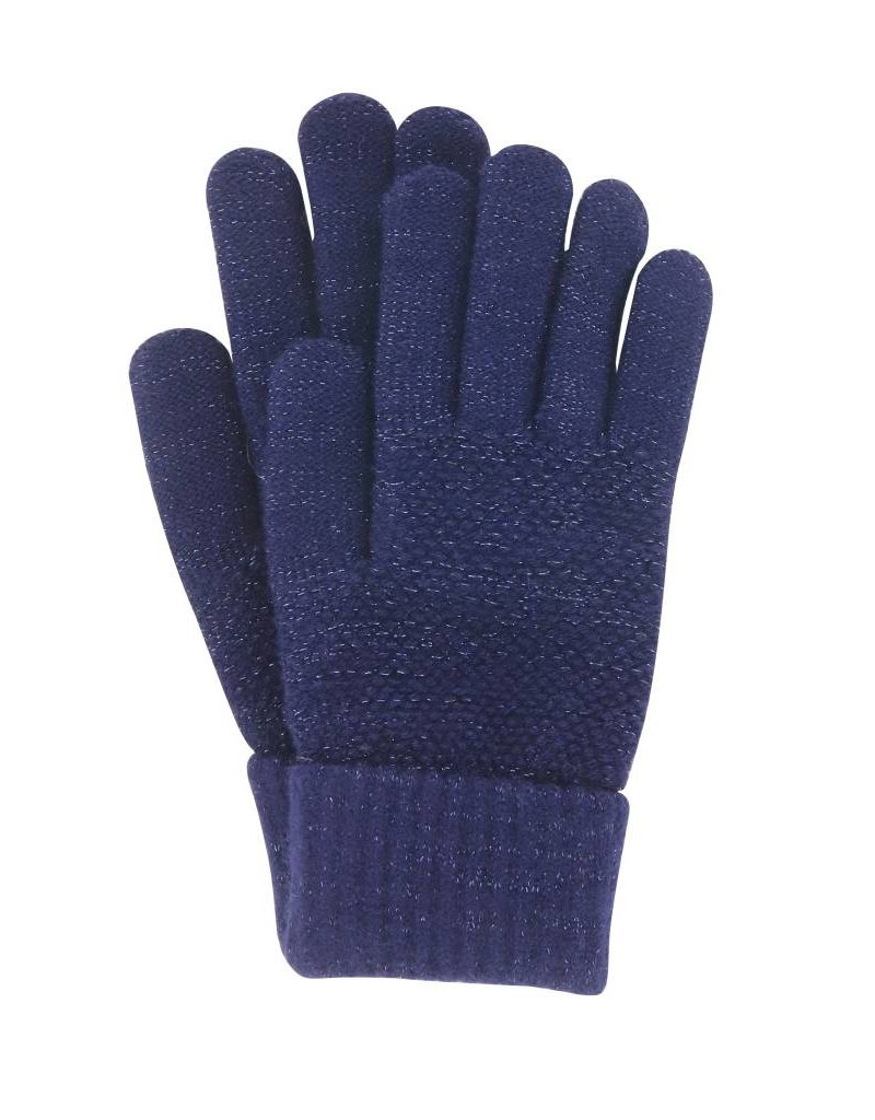 Stretch Knit Gloves Navy