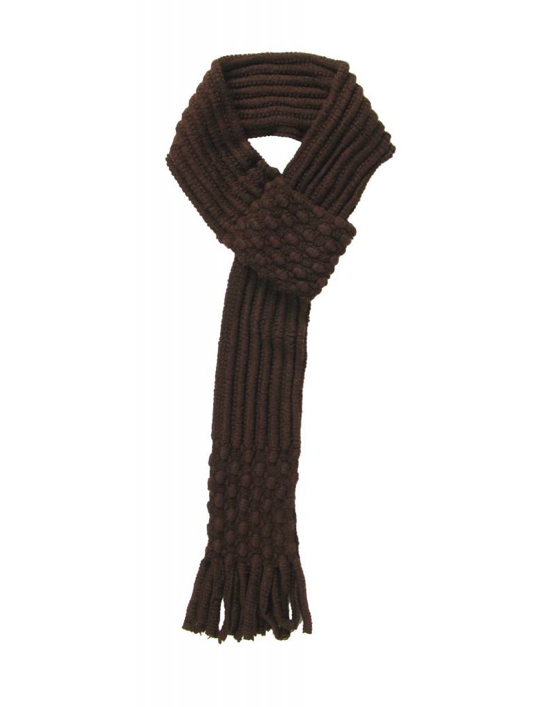 Pull Through Knit Scarf Brown