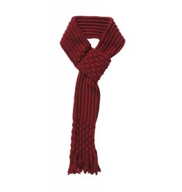 Pull Through Knit Scarf Burgundy