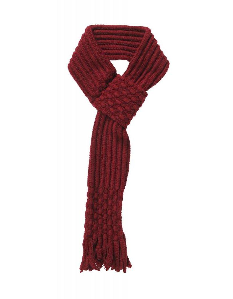 Pull Through Knit Scarf Burgundy