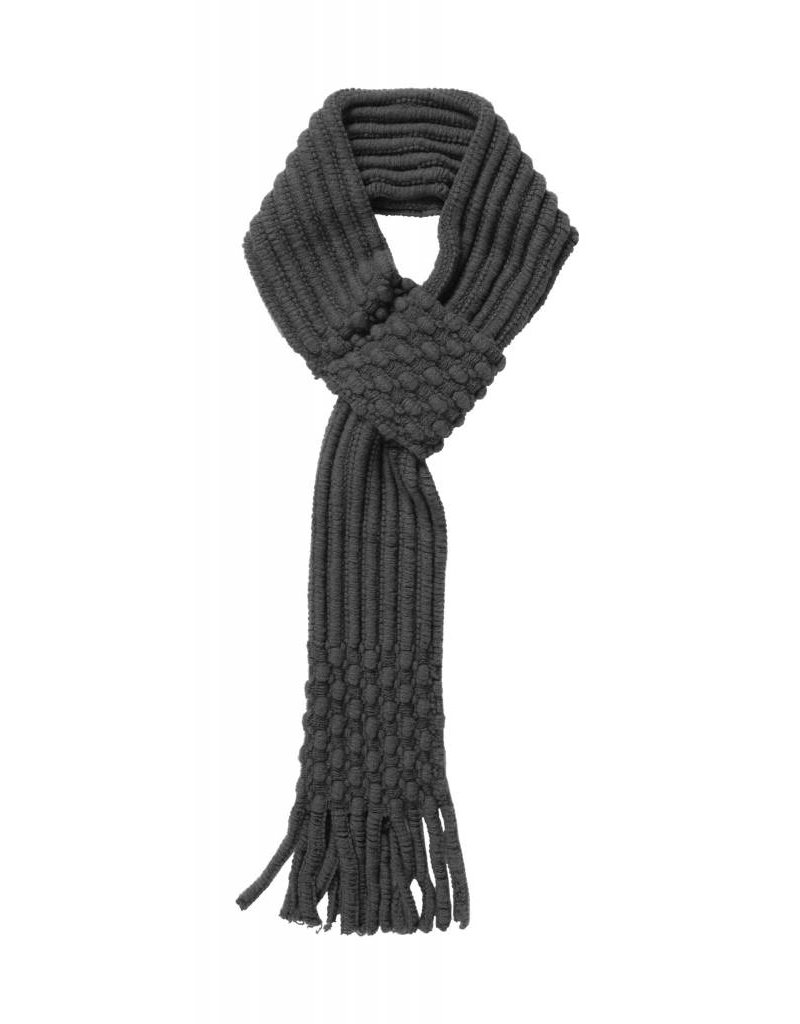 Pull Through Knit Scarf Charcoal