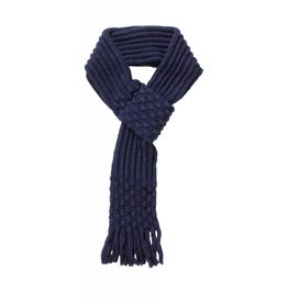 Pull Through Knit Scarf Navy