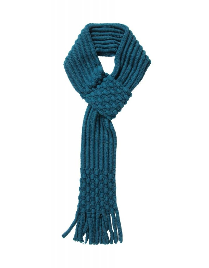 Pull Through Knit Scarf Teal