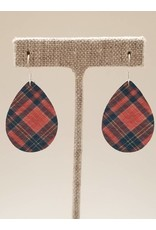 Dainty Earrings Pink Flannel Plaid