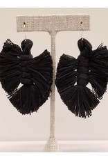 Shake Your Tail Feather Earrings Black
