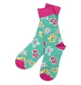Simply Southern Socks Floral Teal