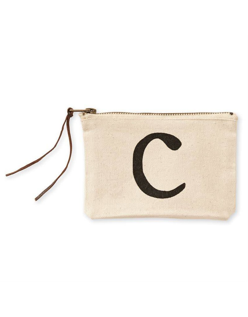 Initial Cosmetic Pouch C
