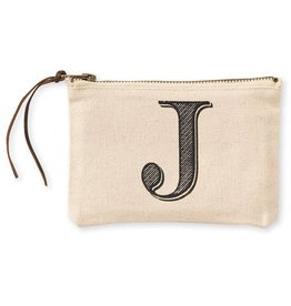 Initial Cosmetic Pouch J
