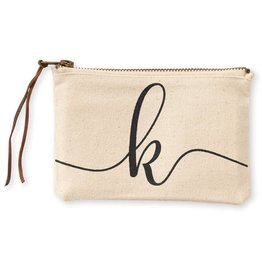 Initial Cosmetic Pouch K