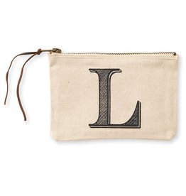 Initial Cosmetic Pouch L