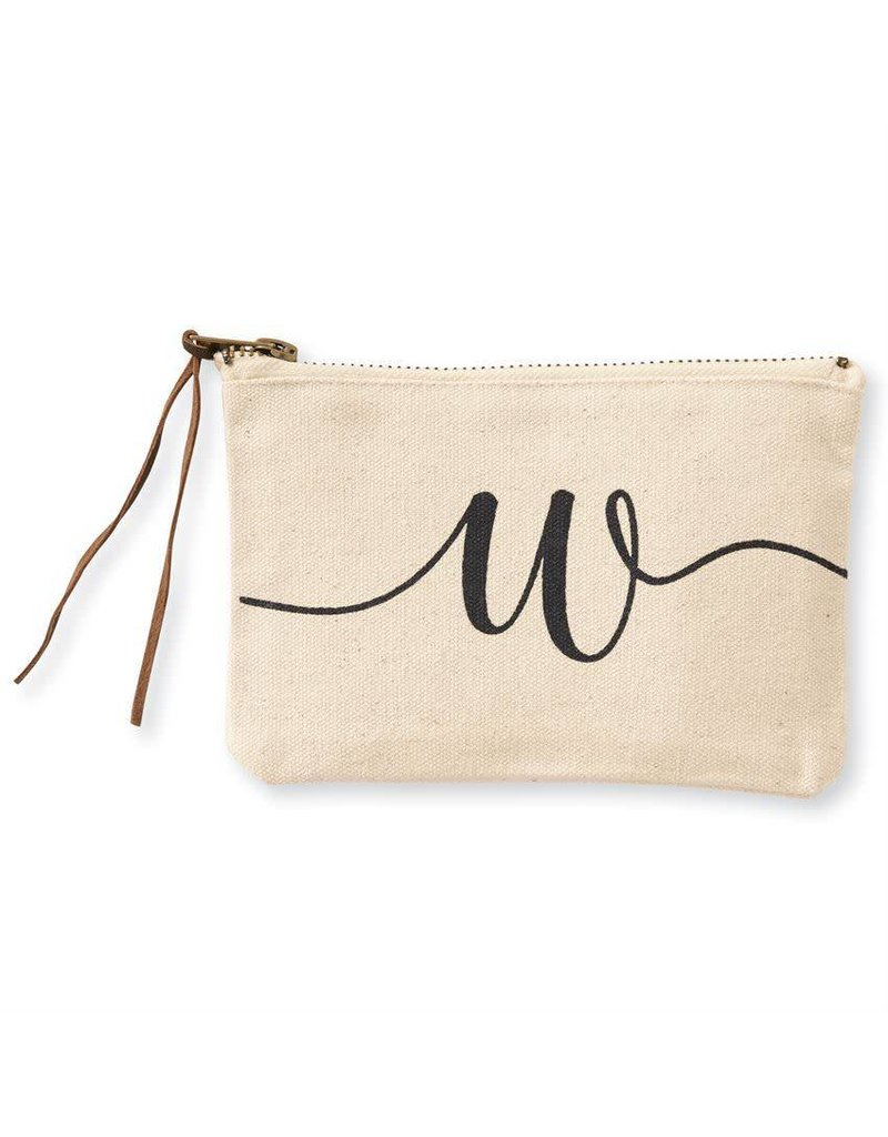 Initial Cosmetic Pouch W