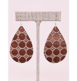 Darling Earring Copper Honeycomb