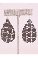 Darling Earring Silver Honeycomb