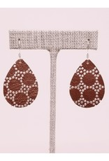 Dainty Earring Copper Honeycomb