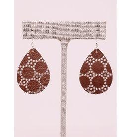 Dainty Earring Copper Honeycomb