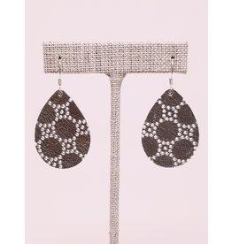 Dainty Earring Silver Honeycomb