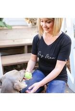 Mary Square Black Tshirt Dog Mom M