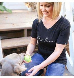 Mary Square Black Tshirt Dog Mom S