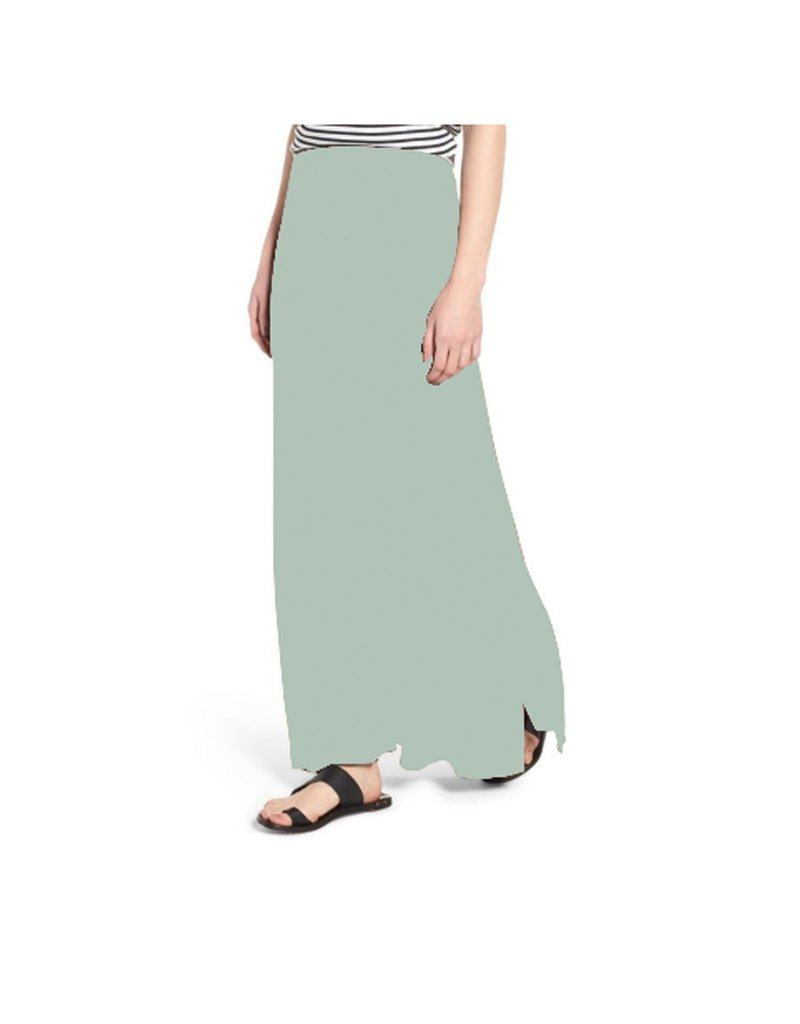 Mary Square Maxi Skirt Stone XS