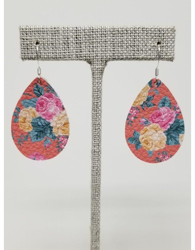 Dainty Earrings Coral Floral