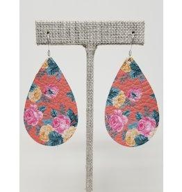 Darling Earrings Coral Floral