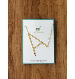 Gold Sideways Monogram Nk A